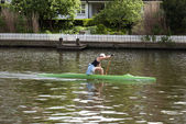 Canoe paddling — Stock Photo