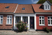 Terraced houses in Ribe — Stock Photo