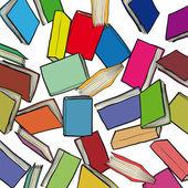 Many books — Stock Vector