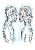 A couple kissing — Stock Vector