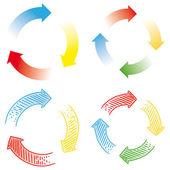 Circular arrows — Stock Vector