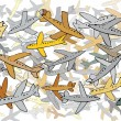 Many planes - Stock Vector