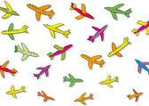 Many planes — Stock Vector