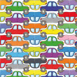 Many cars — Stock Vector