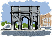 Arch of Constantine — Stock Vector