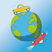 Cars around the world — Stock Vector