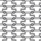 Muchos coches — Vector de stock