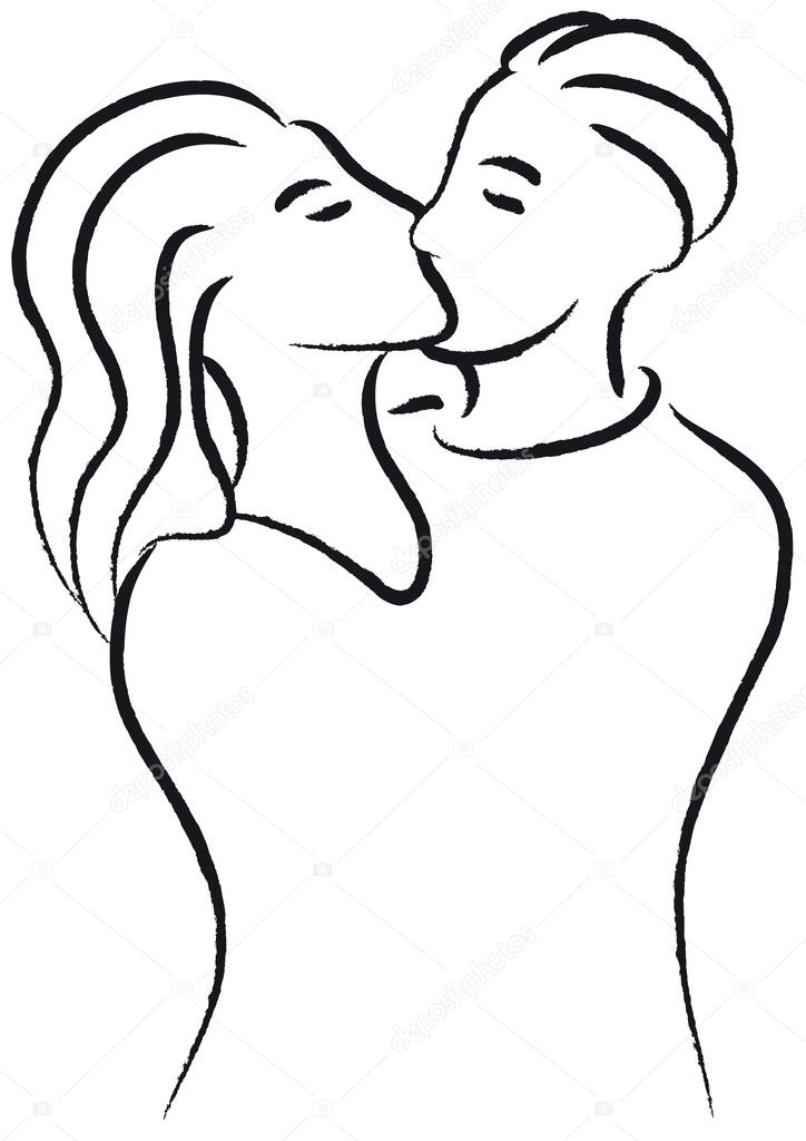 Couple kissing — Stock Vector #11235339