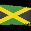 Stock Photo: Brushstroke Flag Jamaica