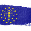 Brushstroke Flag Indiana - Stock Photo