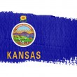 Brushstroke Flag Kansas - Stock Photo