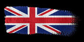 Brushstroke Flag Union Jack — Stock Photo