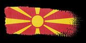 Brushstroke Flag Macedonia — Stockfoto