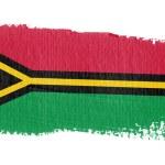 Постер, плакат: Brushstroke Flag Vanuatu