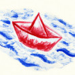 Paper boat — Stock Photo #11274689