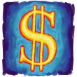 Us dollar symbol — Stock Photo