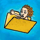 Folder fly — Stock Photo