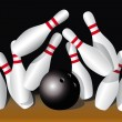 Bowling — Stock Vector