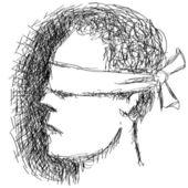 Blindfolded — Stock Vector