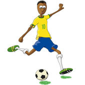 Brazilian soccer player — Stock Vector