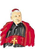 Portrait of Cardinal — Stock Vector