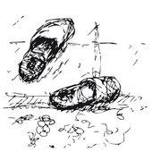 Slippers — Stockvektor