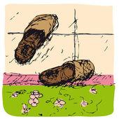 Zapatillas — Vector de stock
