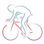 Cyclist — Stock Vector