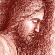 Face of Jesus - Stock Photo