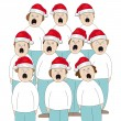 Stock Vector: Choir Christmas