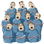A choir — Stock Vector