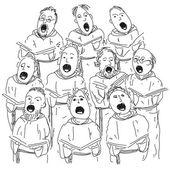 合唱団 — ストックベクタ