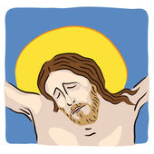 Jesus crucified — Stock Vector