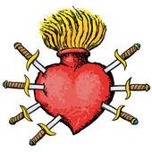 Bolavé srdce — Stock vektor