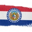 Stock Photo: Brushstroke flag Missouri