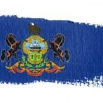 Brushstroke flag Pennsylvania — Stock Photo