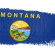 Stock Photo: Brushstroke flag Montana