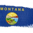 Brushstroke flag Montana — Stock Photo