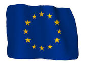 Europe flag of clay — Stockfoto