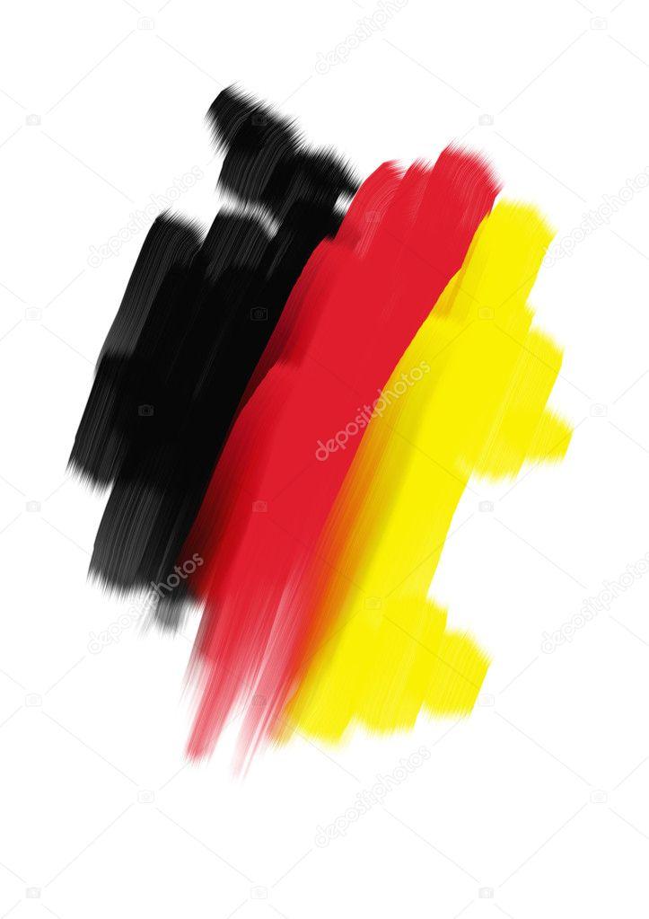 国旗地图德国