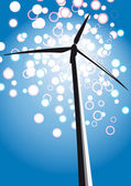 Wind turbine — Stock Vector