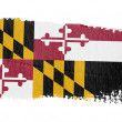 Stock Photo: Brushstroke flag Maryland