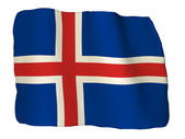 Iceland flag of clay — Stock Photo