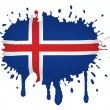 Iceland flag sketches — Stock Vector