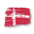 Stock Vector: Flag Denmark