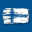 Stock Vector: Flag Finland