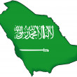 Stock Vector: Map flag Saudi Arabia