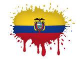 Equador bosqueja las banderas — Vector de stock