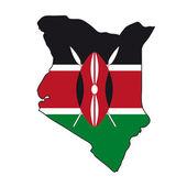 Map flag Kenya — Stock Vector