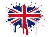 United Kingdom flag scketch — Stock Vector